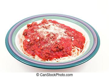 Spaghetti - A heaping bowl full of delicious spaghetti and ...