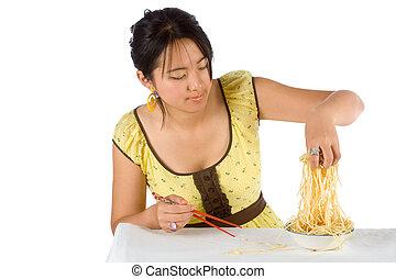 Spaghetti and chopsticks