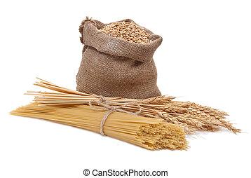 Spaghetti and ear of wheat