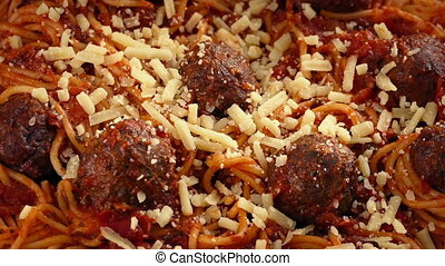 Spaghetti And Meatballs Dish - Spaghetti And meatballs meal...