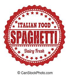 spaghetti, briefmarke