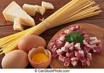 Spaghetti carbonara - Preparing Spaghetti alla carbonara