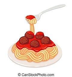 spaghetti fleischklößen