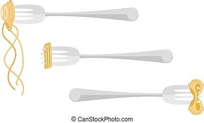 spaghetti, gabarit, italien