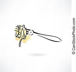 spaghetti, icône