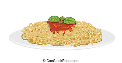 spaghetti, köstlich