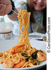 spaghetti, kee, tampon, mao