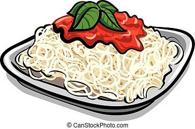 spaghetti, nudelgerichte