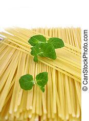 Spaghetti of isolated on white background