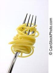 spaghetti on a fork
