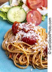 Spaghetti Pasta mit Kirschtomaten