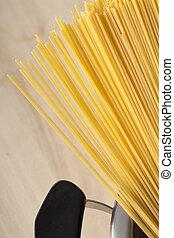 Spaghetti ready to cook
