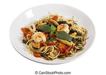 Spaghetti sauce drunken shrimp 2