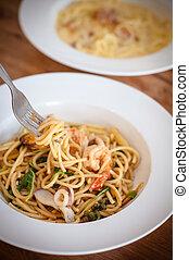 Spaghetti seafood