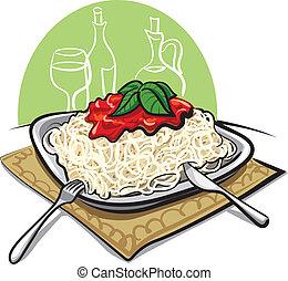 spaghetti tomatensoße