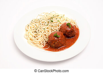 spaghetti with meat-balls