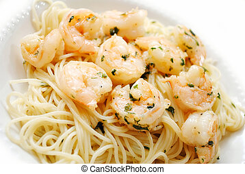 Spaghetti with Shrimp Scampi