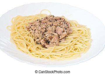 Spaghetti with tuna 2