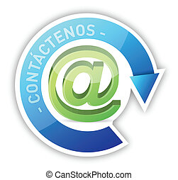 spagnolo, contattarci, illustrazione, disegno