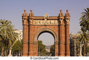 spain., バルセロナ, 弧, カタロニア, 勝利