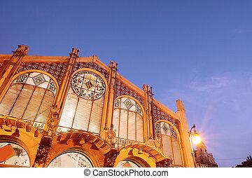 spain., 中央である, 市場, バレンシア