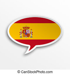 Spain 3d speech Bubble