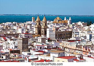 Spain, Andalucia, Cadiz - The city of Cadiz in Andalusia,...