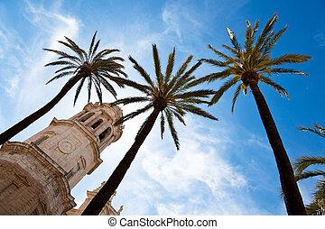 Spain, Andalucia, Cadiz - The city of Cadiz in Andalusia, ...