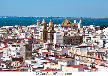 Spain, Andalucia, Cadiz - The city of Cadiz in Andalusia, ...