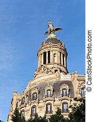 Spain. Barcelona. Ancient building in Passage de Gracia.