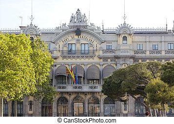 Spain. Barcelona port authority bui