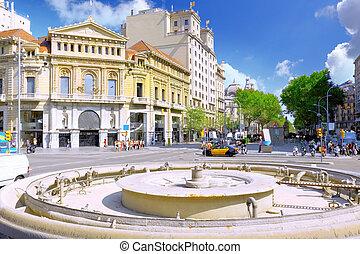 spain., barcelona, vista, ciudad