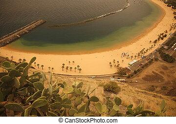 SPAIN CANARY ISLANDS TENERIFE - The Playa de las Teresitas...