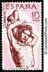 SPAIN - CIRCA 1962: a stamp printed in the Spain shows St....