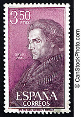 SPAIN - CIRCA 1967: a stamp printed in the Spain shows Jose...