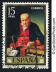 Felix Lopez - SPAIN - CIRCA 1973: stamp printed by Spain,...