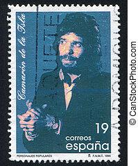 Jose Monge Cruz - SPAIN - CIRCA 1996: stamp printed by...