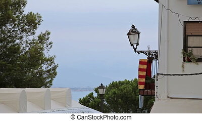 Castle of Peniscola - Spain, city of Peniscola, in August....