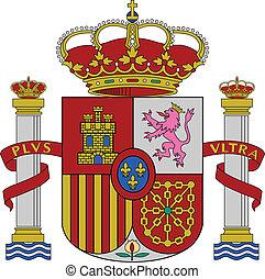 Spain coat of arms - Spain flag coat of arms, vector...