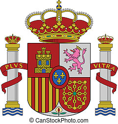 Spain coat of arms - Spain flag coat of arms, vector...
