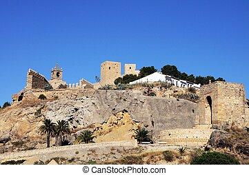 spain., espagnol, antequera, château