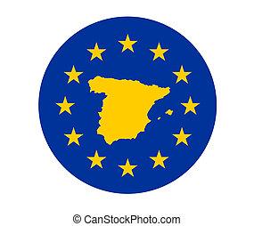 Spain European flag