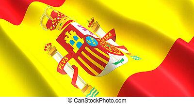 Spain flag 3D