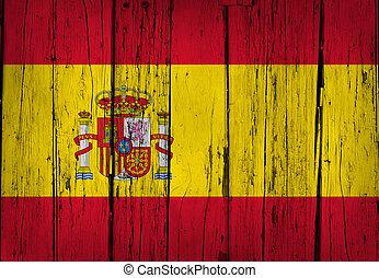 Spain Flag Grunge Background