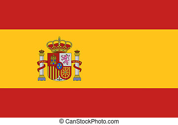 Spain flag illustration of european country