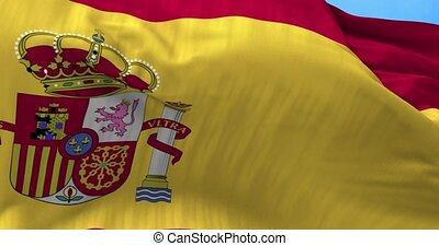 Spain Flag in the Wind