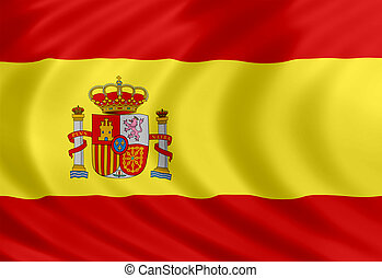 Spain flag of silk