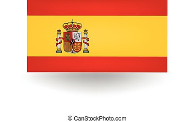 Spain Flag - Official flag of Spain.