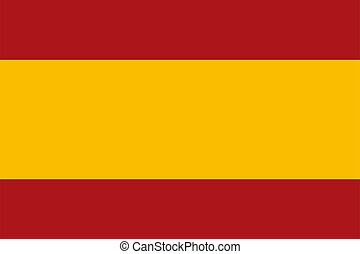 Spain flag. Official national flag of a sovereign state, constitutional monarchy of Spain. Texture map flat icon. Vector illustration
