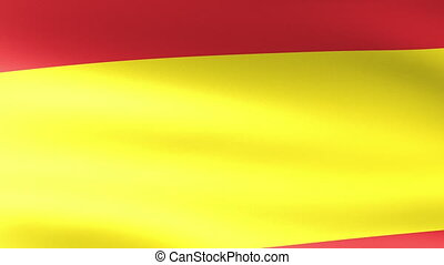 Spain Flag Waving